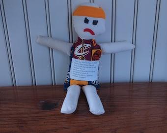 Cleveland Cavs NBA Sports Team Dammit Doll