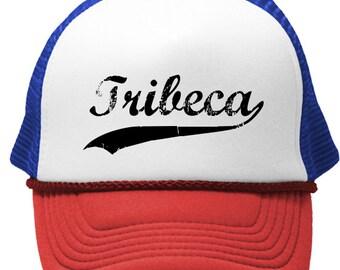 TRIBECA NEW YORK City Trucker cap hat osfa one size fits all retro vintage