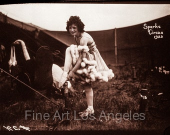 """Fred Glasier Photo, """"Woman Performer, Sparks Circus"""", 1923"""