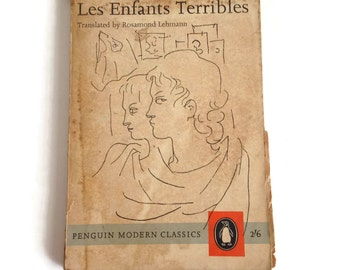 Les Enfants Terribles, Book by Jean Cocteau, Vintage Book, Penguin Modern Classics