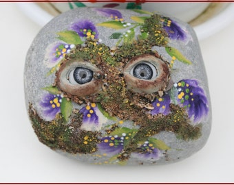 Nº11- painted pebble, hand painted stone, painted rock, painted stone, painted pebbles, piedras pintadas,