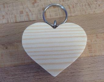 Personalised Heart Shaped Keyring