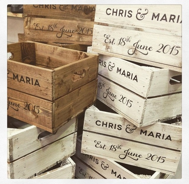 Personalised Rustic Half Crate Perfect For By Crates4youuk