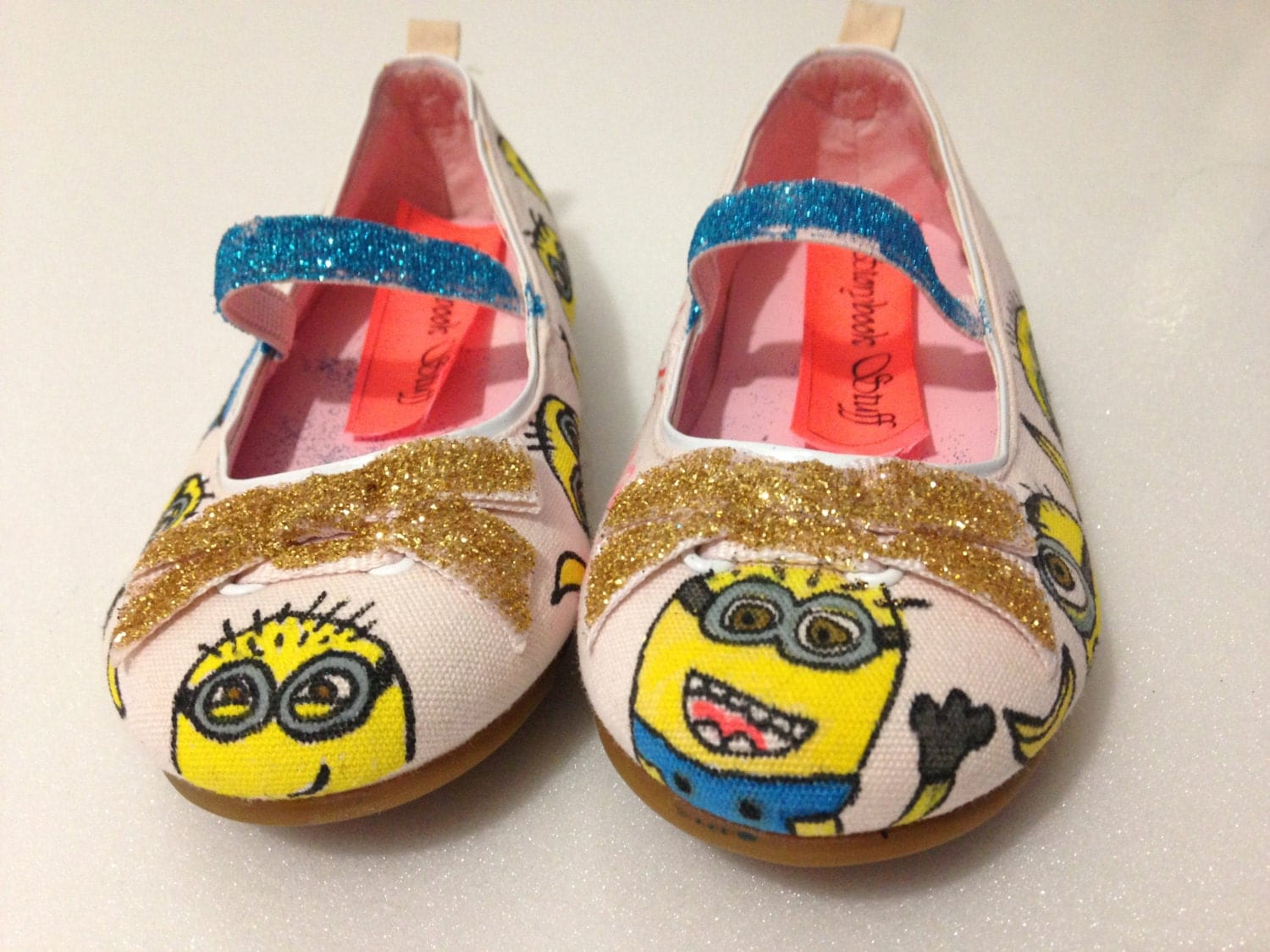 Custom Minion Toddler Girls Shoes Size 7 by StorybookStuff1