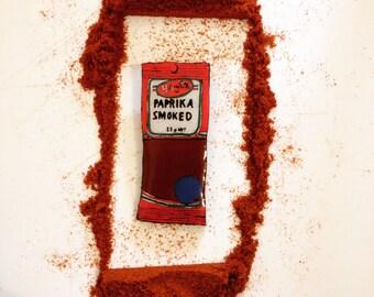 Wearable Art Brooches: Smoked Paprika