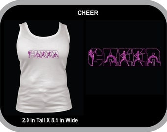 FULLY CUSTOMIZABLE With YOUR High School Initials Cheerleaders in Middle
