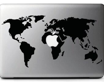 Stickers, decal stickers PLANISPHERE WORLD MAC-MacBook air 15 ''