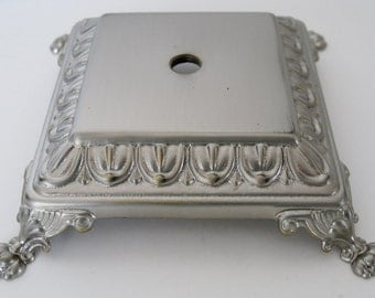 Square Footed Nickel Lamp Base