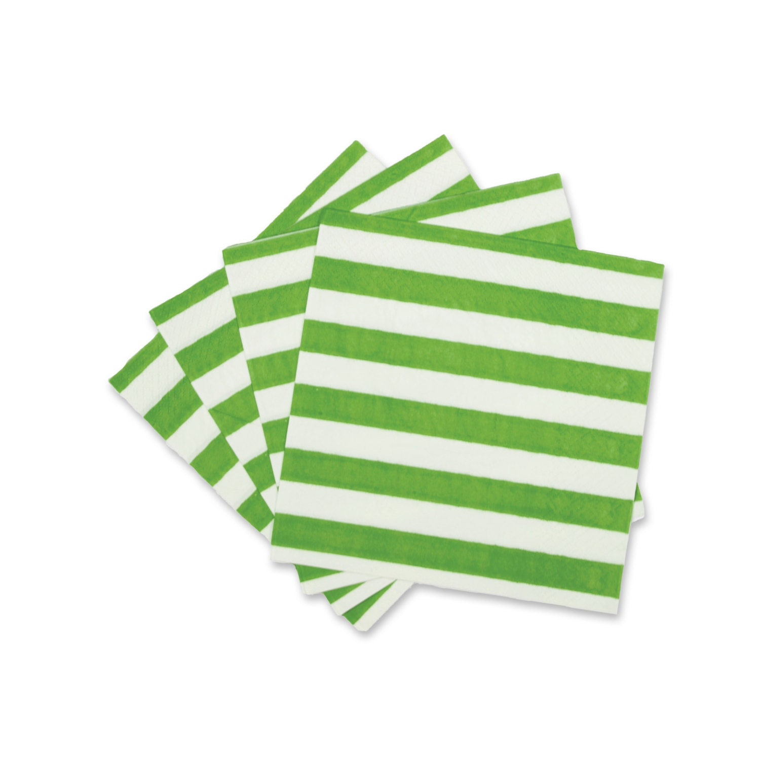 Daydream Painted Stripes 20 Cocktail Paper Napkins