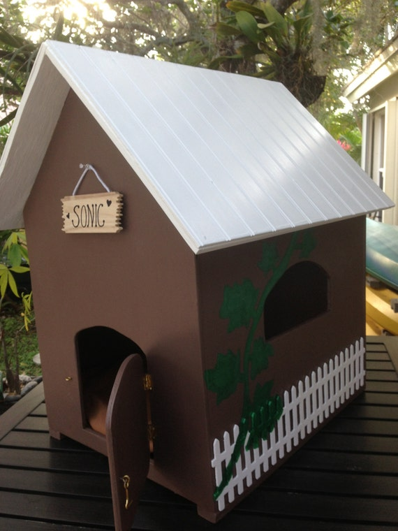 Custom Made Unique Dog Or Cat House For Medium Sized By