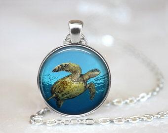 Sea Turtle Necklace, ,Turtle Necklace, Turtle Jewelry, Sea Turtle Pendant