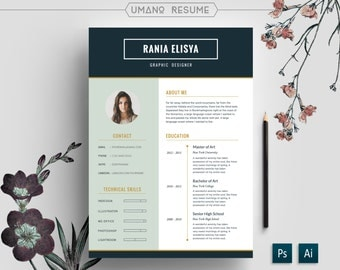 Modern Resume Template Free Cover Letter for Word AI