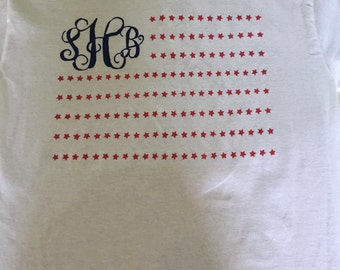 Monogram flag shirt