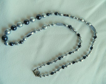Vintage signed  Miriam Haskell faux pearl necklace