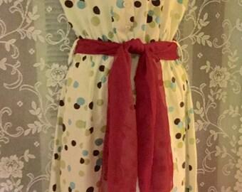 Adorable Vintage polka dot Summer Dress!