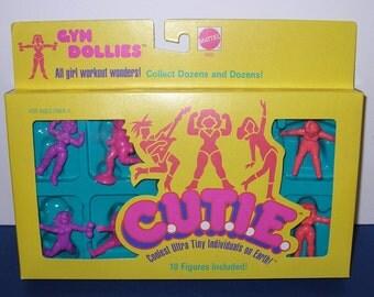 Vintage 1986 Mattel Cuties Sealed Set of 10 Plastic Mini Figures