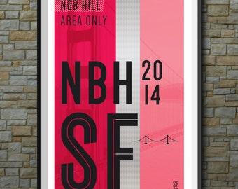 SF Muni Poster: Nob Hill