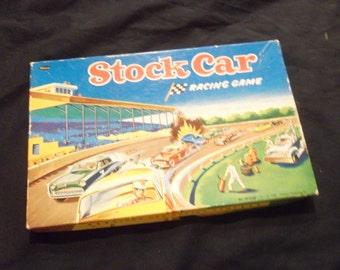 Vintage 1956, Stock Car Racing Game, Missing 1 car
