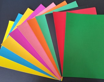 10 x A4 Self Adhesive Sticky Paper Assorted Variety of Colours - Inject and Laser Printing Friendly