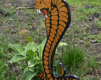 Lawn art or wall plaque Cobra Snake
