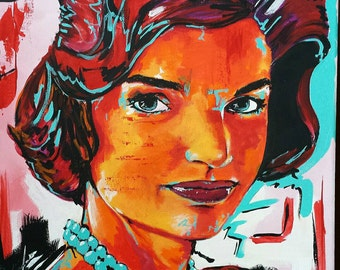 Jackie Kennedy 16x20 Original Abstract Painting
