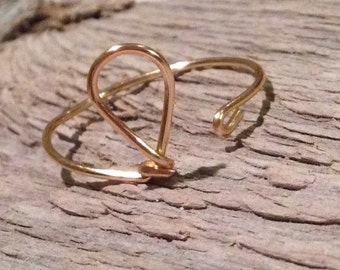 Water droplet wire wrap Charity:Water Donation ring