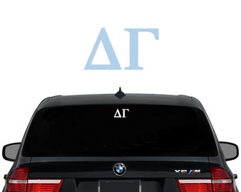 DG Delta Gamma Greek Letters Sorority Decal Laptop Sticker Car Decal