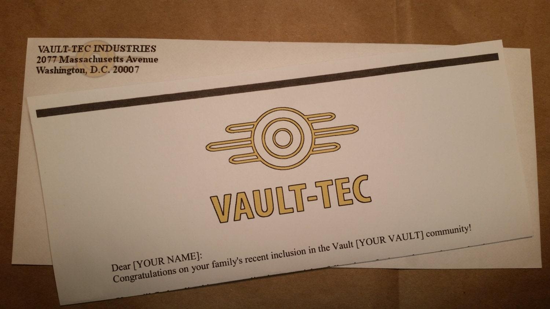Fallout Inspired Custom Vault Tec By BigBossBigCreations