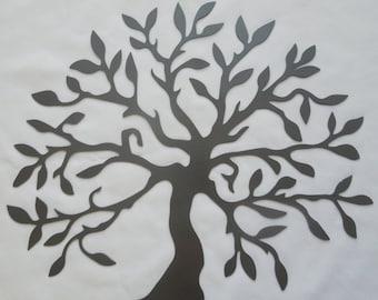 Large tree of life metal wall art decor