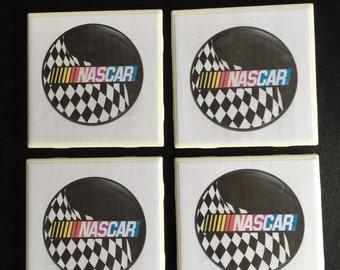 Coasters 4 Pack Nascar Racing Beverage Drink