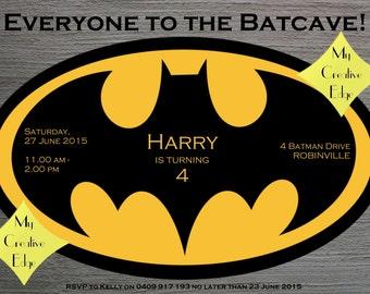 Digital Birthday Invitation - Batman