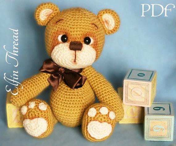 Elfin Thread Teddy Bear Amigurumi PDF Pattern Bear crochet