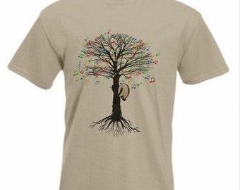 bodhrán T-shirt Musical Tree bodhran  Irish frame drum in all sizes