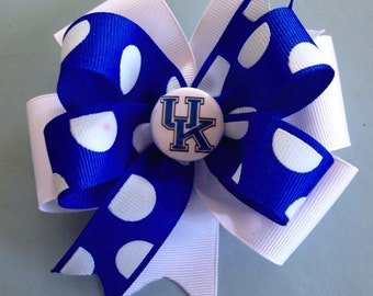 UK University of KY Wildcats Boutique Hairbow