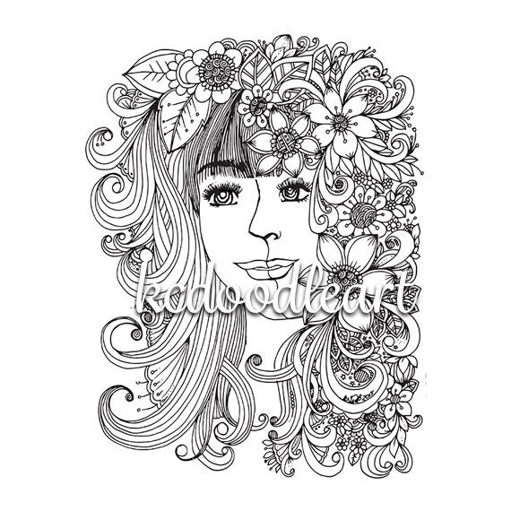 Digital adult and children coloring page instant download Electronic coloring book for adults