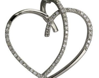 Heart Necklaces Diamond Necklace Necklaces For Women White Gold Necklace 14k
