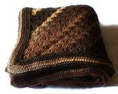 Hand Crocheted Blanket - Brown Tones