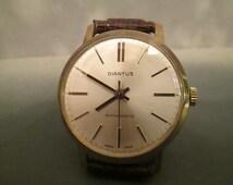 Vintage Diantus Gold-Filled Manual Wind Men's Wristwatch