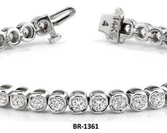 14kt gold 2.0 ct Diamond Tennis Bracelet  BR-1361