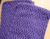 men's wool scarf Zigzag plum