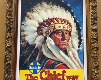 "Great framed Art ""The Chief Way"""