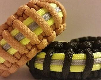 Custom Firefighter Bunker Gear Paracord Bracelet