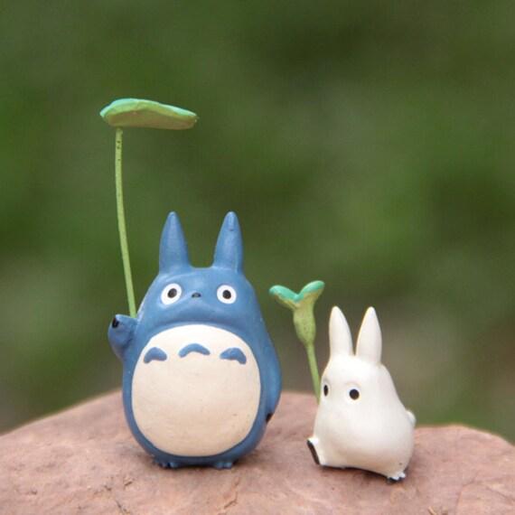 Fairy Garden Miniature Accessory Totoro Holding by RukawaBeads
