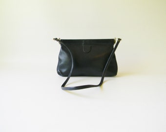 Small Navy Leather Clutch Purse / Small Leather Purse