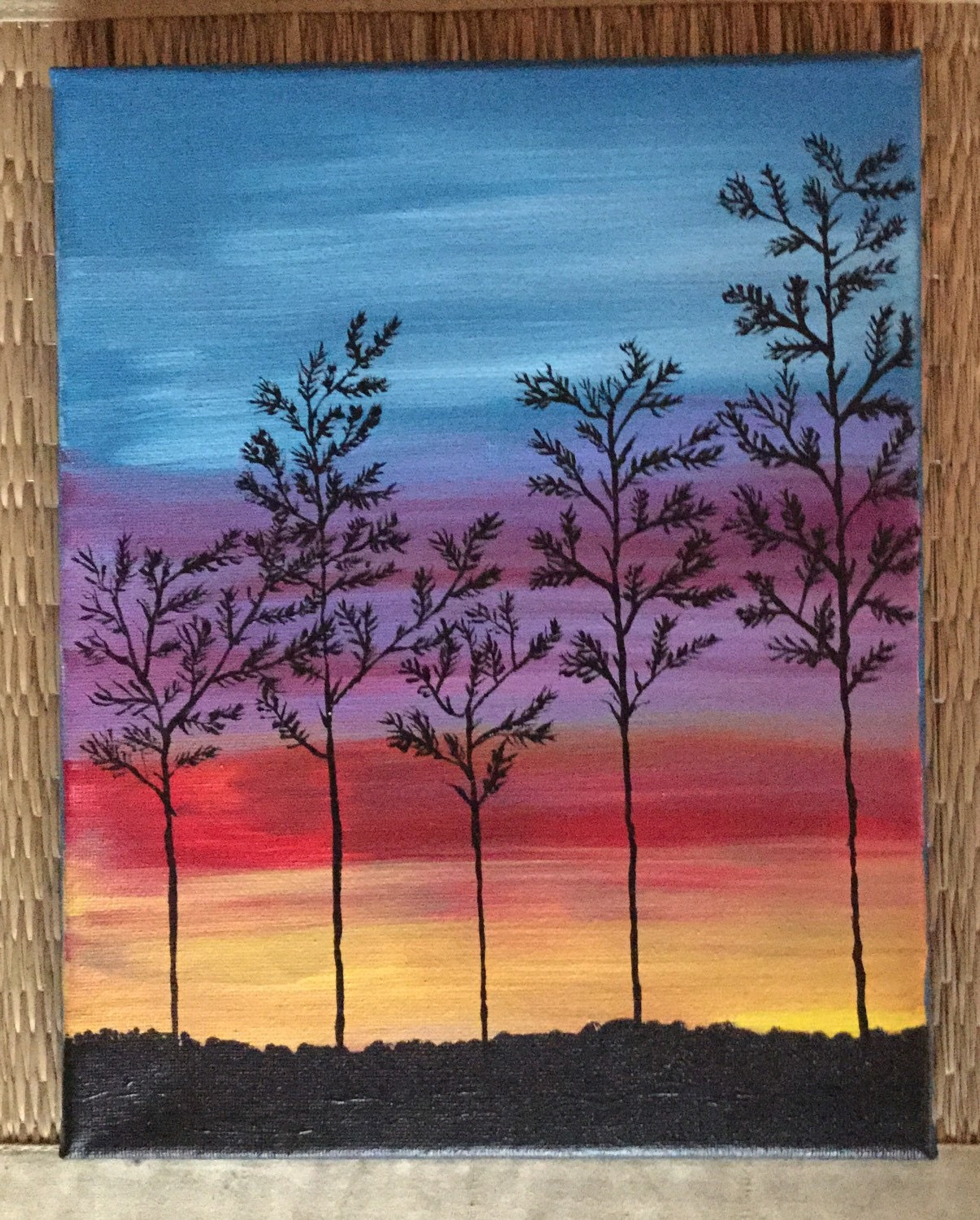 Acrylic Painting Sunset Painting Home Decor by UpandDownArt