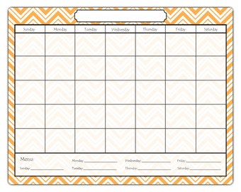 Magnetic Dry Erase Calendar, Varying Chevron