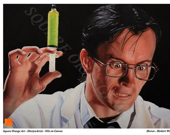 Herbert West Re-Animator A3 Print from Original Oil Painting Horror Series Reduced Price