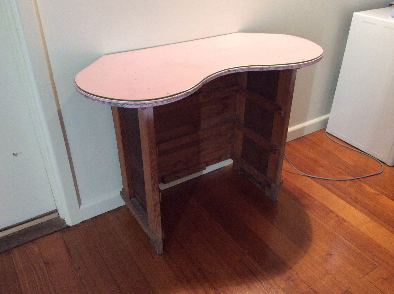 Vanity Desk Top : Vanity table desk sideboard with removable glass top