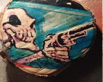Skull block print