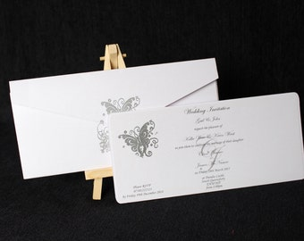 Butterfly Wallet Wedding Invitation